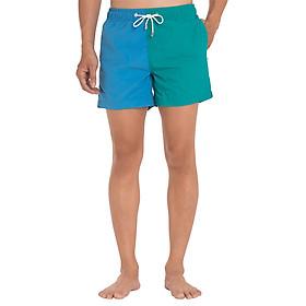 Quần Shorts Nam Đi Biển Phối Màu Aquary KOLOR BLOCK 1 - Xanh