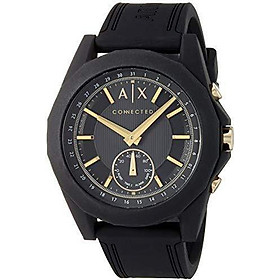 Armani Exchange Men's Hybrid Smartwatch, Black-Tone Stainless Steel, 44 mm