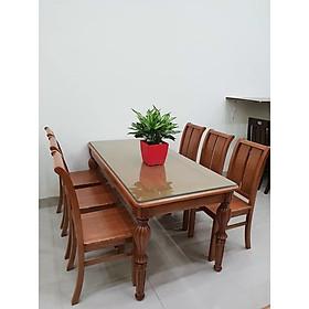 Bộ bàn ăn 6 ghế gỗ xoan đào nhập khẩu