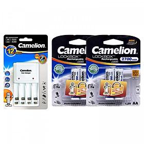 Bộ sạc Camelion 1010B + 4 pin AA 2700mAh - Hàng nhập khẩu