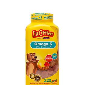 Kẹo Dẻo Bổ Sung Omega - 3 DHA L'il Critters 220 Viên