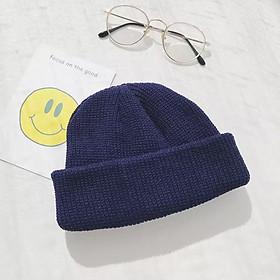 Mũ len Benie form tròn Nón len nam nữ mùa đông - Mã ML001