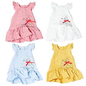 Đầm kate thêu hươu tà xoè cho bé gái 1 tuổi đến 8 tuổi từ 8 đến 24 kg 06758-06761