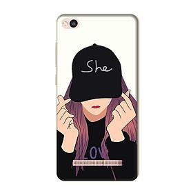 Ốp Lưng Dành Cho Xiaomi Redmi 4A - Mẫu She Love