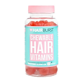 Kẹo dẻo vitamin chăm sóc, kích thích mọc tóc Hairburst Chewable Hair Vitamins 60 viên
