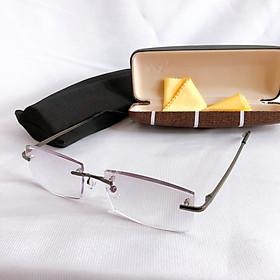 Kính lão thị viễn thị gọng khoan kv61 hàng tốt mắt chống uv đeo sáng và rõ mắt kính chống xước cực bền