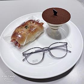Gọng kính cận tròn 21471, nhựa dẻo cho cả nam và nữ - Tiệm kính Candy