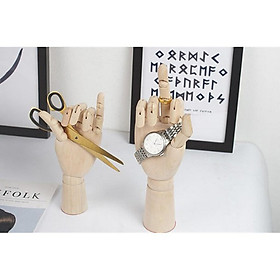 3x Wooden Mannequin Hands Children Right Hand Model Sketching Drawing Hand