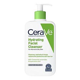 Sữa Rửa Mặt Dưỡng Ẩm Dành Cho Da Khô Đến Da Thường Cerave Hydrating Facial Cleanser (355ml)