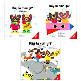 Combo EHON Kun Và Ma [Dành Cho Trẻ 0-6 Tuổi]: Đây Là Con Gì? + Đây Là Hình Gì? + Đây Là Màu Gì? - (Truyện Tranh Ehon Nhật Bản / Tặng Kèm Postcard Siêu Dễ Thương)