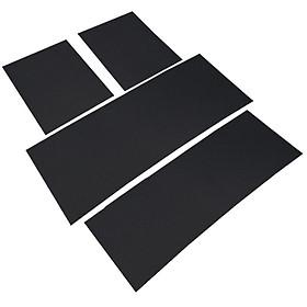 Bộ 4 miếng thảm lót sàn ô tô T25.7 , Thảm sàn xe hơi 7 chỗ DIY, Thảm sàn cao su