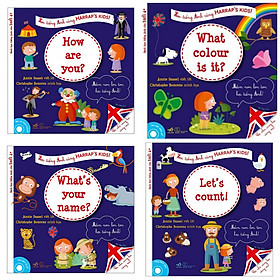 Combo Sách Thiếu Nhi Học Tiếng Anh Cho Tuổi 4+ (Trọn bộ 4 Cuốn): What's Your Name?, How Are You?, What colour is it?, Let's Count ! (Tặng kèm Bookmark thiết kế) - Học Tiếng Anh Cùng HARRAP'S KIDS!