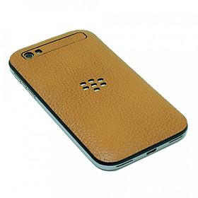 Ốp da dán dành cho Blackberry Q20 Classic - Da thật nhập khẩu cao cấp -  (Nâu N2)