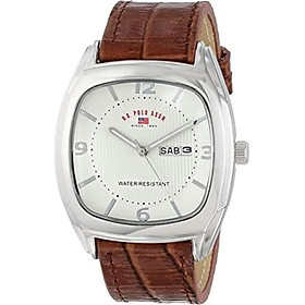 U.S. Polo Assn. Classic Men's US5114 Brown Crocodile Strap Watch