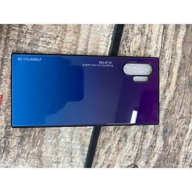 Ốp lưng kính màu Gradient viền dẻo dành cho Samsung Galaxy Note 10 Plus