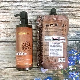 Bộ phục hồi tóc hư tổn tại nhà MASARONI Collagen Keratin cao cấp của Canada 500ml-2