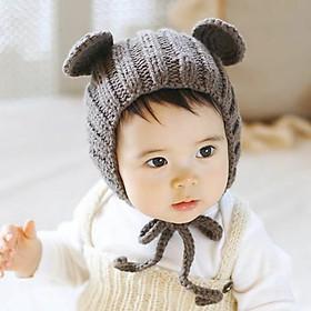 Mũ Len Tai Gấu Che Tai Ấm Áp Cho Bé 3 Tháng Đến 3 Tuổi - Màu Ngẫu Nhiên