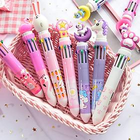 Bộ 3 bút bi nhiều ngòi màu sắc dễ thương đa năng