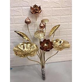 Hoa sen thờ bằng đồng( bộ 10 bông)