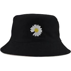 Nón bucket hoa cúc, mũ tai bèo thêu hoa cúc hot hit