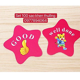 Set 100 sao khen thưởng giáo cụ đồ dùng dạy học hấp dẫn️