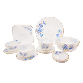 Bộ Bàn Ăn Thủy Tinh Ngọc USA homeset Opalglass (14 Món)