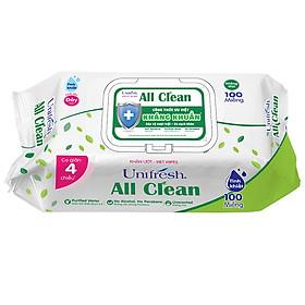 Khăn Ướt Unifresh All Clean 100M (100 Miếng)