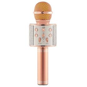 Mic Hát Karaoke Kèm Loa Bluetooth WS-858 Đa Năng (Giao Màu Ngẫu Nhiên)