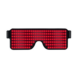 NEW 11 Modes Display Quick Flash Led Party Glasses USB Charging Luminous Glasses Christmas Grand Event Party Decorations