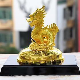 Linh vật Rồng phong thủy mạ vàng