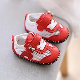 Giày tập đi chống trượt cho bé có lớp lưới thoáng mát, giày tập đi đế mềm mùa hè thoáng mát