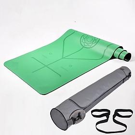 Thảm Tập Yoga Định Tuyến Da PU Cao Cấp Chính Hãng miDoctor + Túi Đựng Thảm Tập Yoga + Dây Buộc Thảm Yoga Định Tuyến
