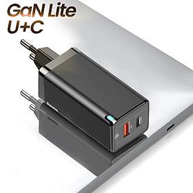 Bộ sạc nhanh đa năng thế hệ mới Baseus GaN2 Lite Travel Quick Charger 65W - Hàng Chính Hãng