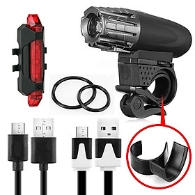 Rechargeable Led Bike Light Bicycle USB Waterproof Cycle Front Back Headlight
