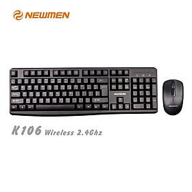 Bộ bàn phím chuột máy tính không dây NEWMEN K106 - Hàng chính hãng