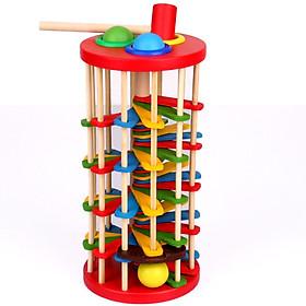 Đồ chơi gỗ Vivitoys - Đập banh lốc xoáy - đồ chơi cho bé trai năng động và rèn luyện sự linh hoạt