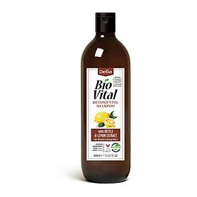 Dầu Gội Hữu Cơ Nhập Khẩu thải Độc Dành Cho Tóc Dầu Nhờn Deba Bio Vital Nettle & Lemon