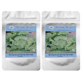 Hình đại diện sản phẩm Bộ 2 Túi Hạt Giống Xà Lách Cuộn Chịu Nhiệt Webbs (Lactuca Sativa) - 100 Hạt