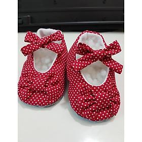 Giày tập đi chống trượt bé gái vải chống trơn giày bé gái chất liệu mềm mịn