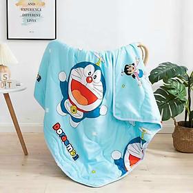 Chăn mền cotton đũi baby cao cấp A - kích thước 1m1 x 1m4, thoáng mát, mền cho bé + tặng kèm 1 khăn lau tay cho bé mang đi học