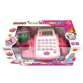 Bộ đồ chơi máy tính tiền màu hồng 6100E