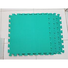 Bộ 4 tấm Thảm Cho Trẻ Thơ Trơn 60cmx60cm màu xanh ngọc