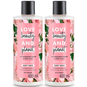 Combo 2 Sữa Tắm Làm Sáng Da Love Beauty And Planet 400ml