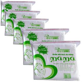Combo 5 khăn giấy khô đa năng cao cấp Mama 600g ( 600 tờ)