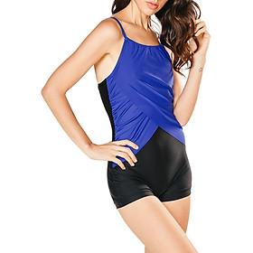 Bộ Bơi Nữ Một Mảnh Short Lan Hạnh 30041-XD103 - Xanh Dương