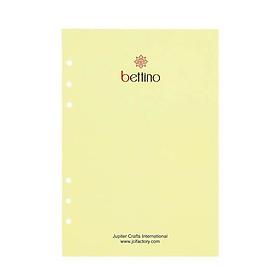 Ruột Sổ Còng A5 Kẻ hàng A5 Lined Refill For 6-Ring Notebook Bettino Writing Paper RN-048 Giấy Kem Vàng Ngà 80gsm Size 145x210mm