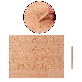 Montessori Tracing Boards Double Sided Wooden Learning Material