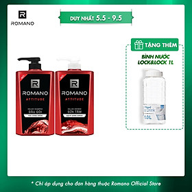 Combo Dầu gội và Sữa tắm cao cấp Romano Attitude sang trọng đẳng cấp 650gr