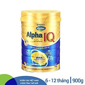 Sữa Bột Vinamilk Dielac Alpha Gold IQ Step 2 - Hộp Thiếc 900g