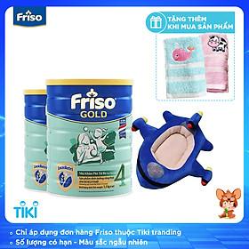 Bộ 2 Lon Sữa Bột Friso Gold 4 Cho Trẻ Từ 2-4 Tuổi 1.5kg + Tặng gối phi thuyền